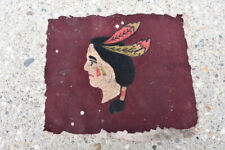 Antique Chain Stitch Embroidery Native American Indian Jacket Patch Motorcycle
