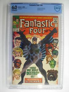 Fantastic Four #46, Inhumans, Black Bolt, CBCS, Fine,68.0, Off-White/White Pages