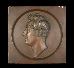 François Augustin Caunois IN Jean Lecocq 1834 Sculpture Bas Relief Plaster Cast