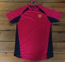 Vtg 1997 Manchester United Red Polyester Club Soccer Fan Jersey Size Mens Small