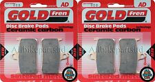 GOLD-FREN SINTERED FRONT BRAKE PADS for: HONDA CBR 900 FIREBLADE (1997) CBR900