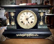 New ListingWooden Black Mantel Clock Waterbury?