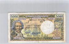 Tahiti Papeete 5000 Francs (1985) G.3 n° 005686322 Pick 27d