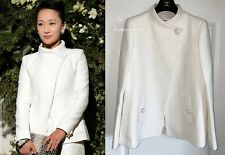 GORGEOUS $7K CHANEL 15P WHITE TWEED CC BUTTONS JACKET 44