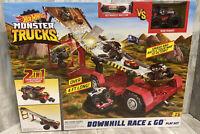 Hot Wheels Monster Trucks Downhill Race & Go Playset - BRAND NEW!!!
