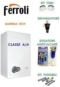 Caldaia Ferroli Bluehelix Tech 25C +kit fumi +defangatore +dosatore +flessibili