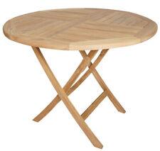 KMH Teak Esstisch Gartentisch 100 Cm Teaktisch Holztisch Klapptisch Tisch rund