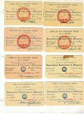 16 Brotherhood of Magicians Membership Cards - 1950 to 1966 - Ken Rudolph