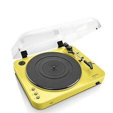 Lenco L-85 Yellow | 33 & 45 RPM Semi-Automatic Belt Drive USB Turntable Vinyl