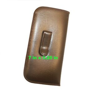 Extra LARGE Slip In Eyeglass Case With CLIP Soft Glasses Pouch With Pocket Clip