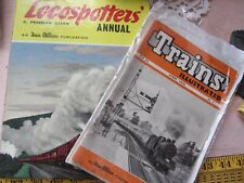Vintage locospotters Annual 1961 & Trains Illustrated April 1956