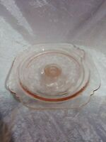 """Vintage Pink Depression Glass Indiana Madrid """"Recollections """"Cake Stand Pedestal"""