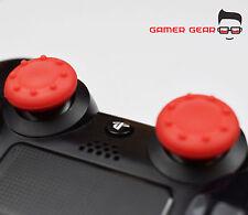 2 x palo pulgar de goma cubierta de agarre para PS3 PS4 XBOX One control analógico-Rojo