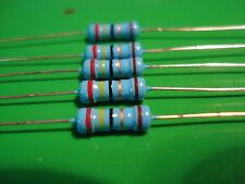 100 Resistors 5/% 1//4W 0.25W E12 High Quality CR25 Carbon Film RoHS 1R to 8.2R