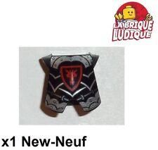 Lego - 1x Minifig armure armor castle kingdoms dragon noir/black 2587pb33 NEUF