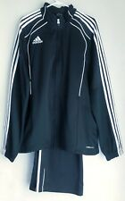 Adidas Men's XL Tracksuit Windbreaker Jacket & Pants Combo Black/White