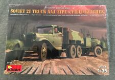 MiniArt 1/35 Soviet Truck AAA with Field Kitchen Plastic Model Kit 35257