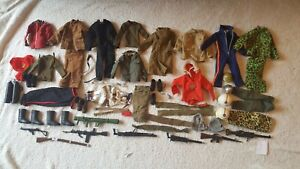 Action man Palitoy vintage large bundle of clothes and accessories