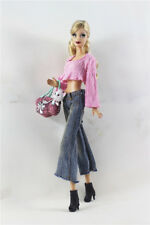 4in1 Set Fashion Outfit T-shirt Top+Pants+Pet bag+shoes  FOR 11.5in.Doll Clothes