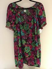 Kaftan Lovely Floral Pattern Size 12 -16 see label photo for measurements!  BNWT
