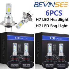 6x For Benz SLK200 SLK230 2004-2011 Combo H7 LED Headlight Hi/Low Fog Light Bulb