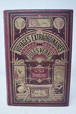 Le Pays des Fourrures  Jules Verne hetzel deux éléphants  lilas
