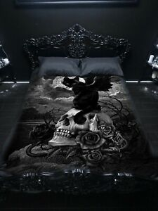 NINE LIVES OF POE - Bedspread Top Cover / Throw / Tapestry by Alchemy England