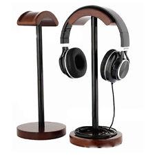 Headphone Stand Holder Earphone Headset Wood Wooden Hanger Display Rack Desk