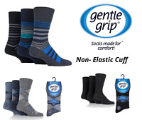 Gentle Grip Socks Mens Non Elastic Socks HoneyComb Top 3 Pairs Size 6-11