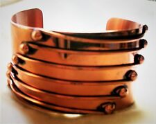RIVETING  BOLD AND BEAUTFUL   RUNWAY COPPER  CUFF  BRACELET
