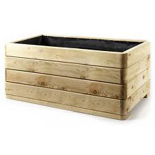 HolzFee Pflanzkübel Holz Lärche Massiv 100 x 50 Pflanzkasten Hochbeet Pflanztopf