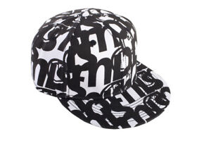 Nomis Big Up Fitted Hat Black White Baseball Cap Size 7 3/8 New