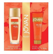JOVAN MUSK for WOMEN 2.5 oz Body Fragrance + 2.5 body lotion PERFUME SET NIB