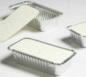100 Silver Aluminium Foil Containers & Lids Size 6a Tray Takeaway MP FAST DISPAT