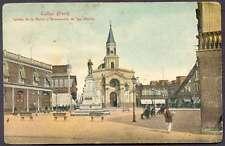 Peru Postcard Callao Iglesia De La Matriz Y Mon San Martin L@@K