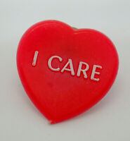 I Care Red Heart Retro Vintage Lapel Pin