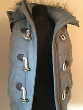 Fat Face Grey with fur edged  hooded body warmer / Gilet  UK 8