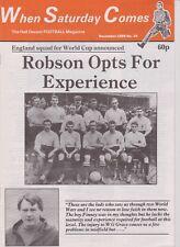 WHEN SATURDAY COMES DECEMBER 1989 No 34 ENGLAND ST AUSTELL LEIPZIG CHARLTON