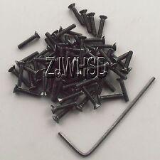 50pcs M2 x 10 Allen Hex Flat Head Screw Ultra Hard Alloy Steel Bolt + Free Key