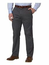 Men's Kirkland Chino Pants Flat Front Straight Leg NWT FORGED IRON 32x34