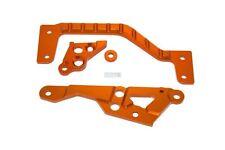 HD Alloy Centre Chassis Brace and Side Braces - Orange Baja HPI 5B 5T 5SC Rovan