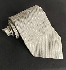 Ralph Lauren Tie Silver Necktie 100% Silk (Green Lable)