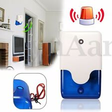 Outdoor Wired Light Strobe Siren For Wireless Alarm Safety System 110 dB 12V