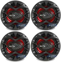 "4) New BOSS CH6530 6.5"" 3-Way 600W Car Audio Coaxial Speakers Stereo Package"