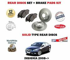 pour OPEL INSIGNIA 2008-2014 Neuf arrière solide Kit Disque frein + Plaquettes