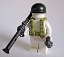 BrickArms BAZOOKA SOLDIER Pack for WW2 Lego Minifigure -Bazooka, Vest, Helmet