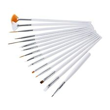 15pcs Nail Art Design Painting Dotting Detailing Pen Brushes Bundle Tool Kit Set
