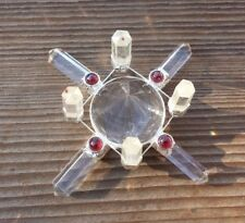 CLEAR QUARTZ ANTENNA ENVIRONMENT GENERATOR WITH GARNET ACCENTS