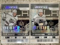 2019-20 CREDENTIALS 2x DEBUT TICKET ACCESS CLEAR ACETATE LOT GRUNDSTROM BJORNFOT