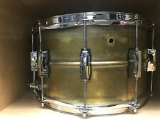 "Ludwig RAW supraphonic BRASS snare Drum 8"" X  14"" New For Drums+ 3 Bonus Items"
